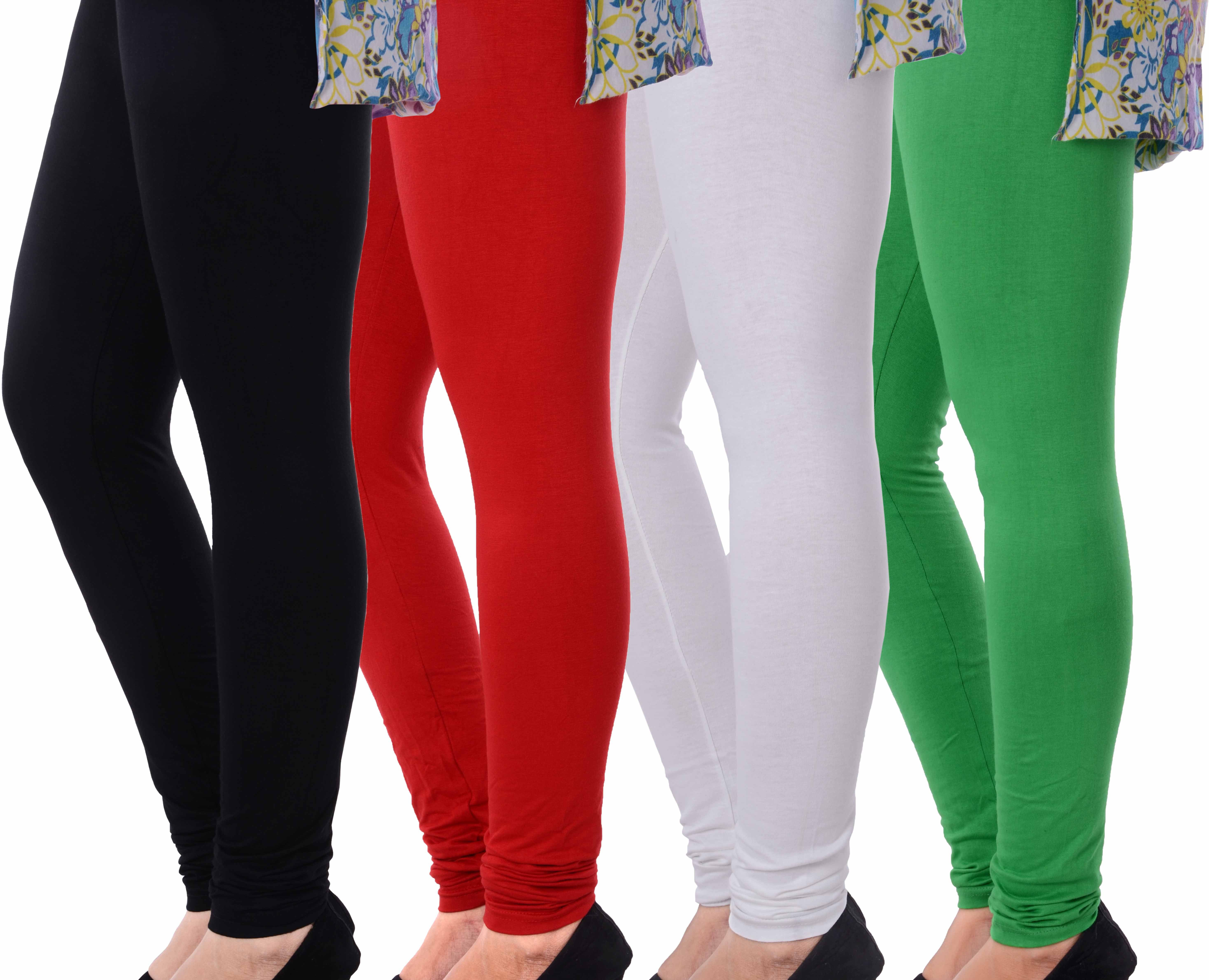 Grafion Womens Multicolor Leggings(Pack of 4)