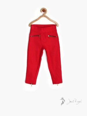 StyloFashionGarments Girl,s Red Jeggings