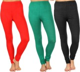 SLS Women's Red, Green, Black Leggings (...