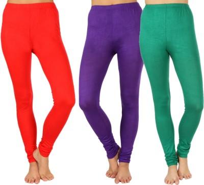 SLS Women's Red, Purple, Green Leggings