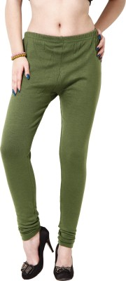Adam n Eve Women's Dark Green Leggings