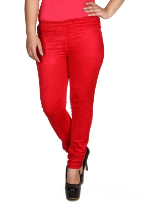 Fashion Cult Women's Red Jeggings