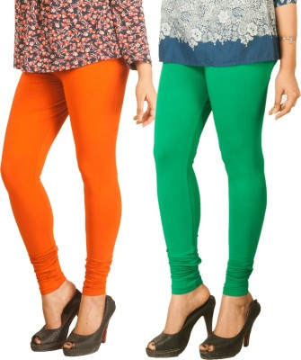 Berries Women's Orange, Green Leggings