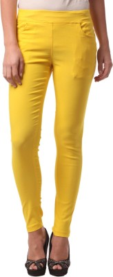 FashionExpo Women's Yellow Jeggings