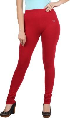 Twin Birds Women's Red Leggings