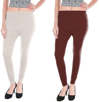 Colors More Women's Brown, White Leggings