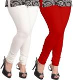 Ambitious Women's White, Red Leggings (P...