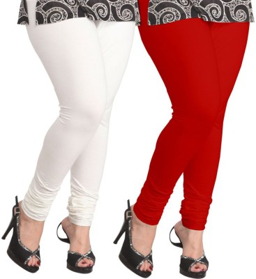 Ambitious Women's White, Red Leggings