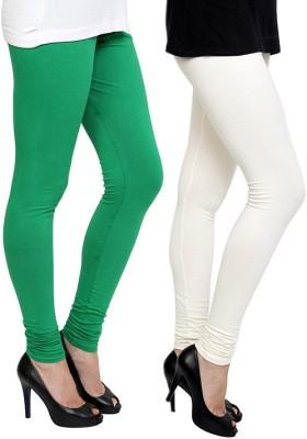 Pannkh Women's Green, White Leggings