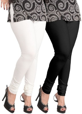 umesh fashion Women's Black, White Leggings