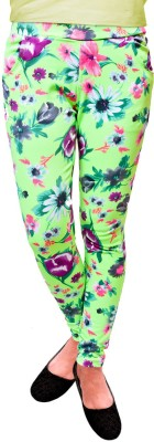Vogue4all Women,s Green Jeggings