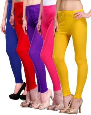Rowena Women's Blue, Red, Purple, Pink, Yellow Leggings
