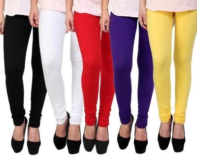Myra Softwear Women's Black, White, Red, Yellow, Blue Leggings