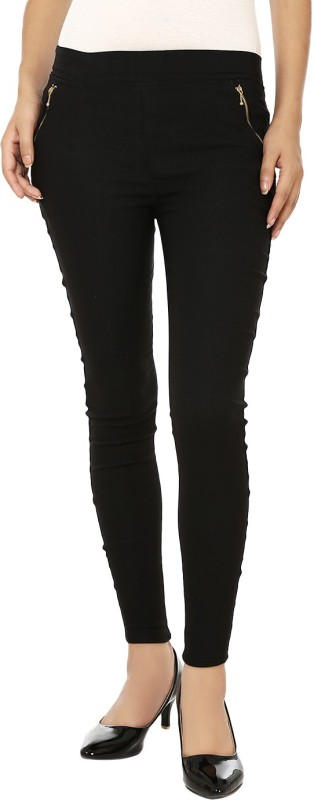 Lambency Women's Black Jeggings