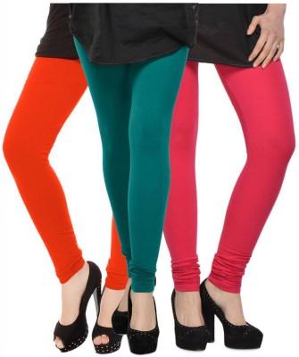 Fashion Zilla Women's Orange, Blue, Pink Leggings