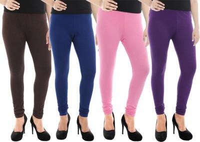 Paulzi Women's Brown, Blue, Pink, Purple Leggings