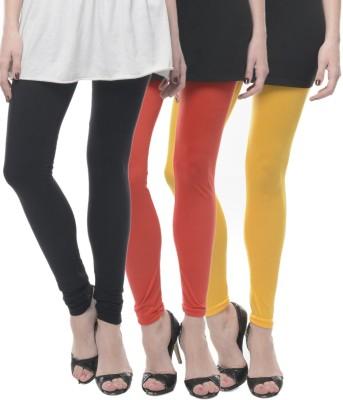 Lavennder Women's Black, Orange, Yellow Leggings