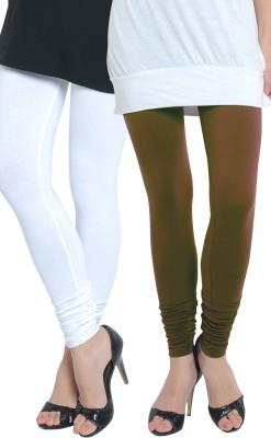 Tulsattva Women's Brown, White Leggings
