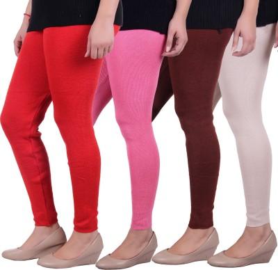 Sellsy Women's Orange, Pink, Brown, White Leggings