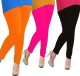 Tyra Women's Orange, Pink, Black Legging...