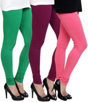 Roma Creation Women's Green, Purple, Pink Leggings