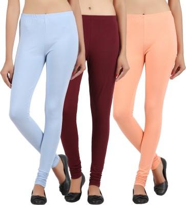 Sewn Women's Light Blue, Brown, Beige Leggings