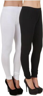 Stylishbae Women's Black, White Leggings