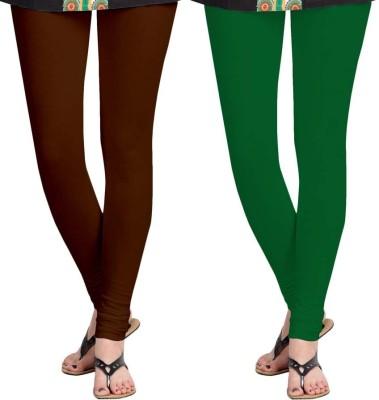 Roshni Creations Women,s Brown, Green Leggings