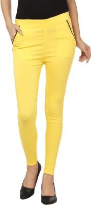 Lambency Women's Yellow Jeggings