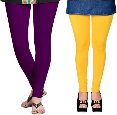 ZACHARIAS Women's Purple, Yellow Leggings