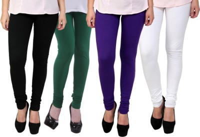 Dharamanjali Women's Black, Green, Purple, White Leggings