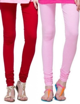 Zadine Women's Red, Pink Leggings