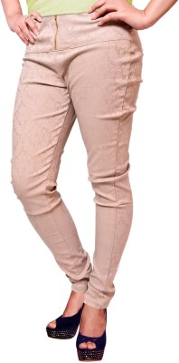 Vogue4all Women's Beige Jeggings