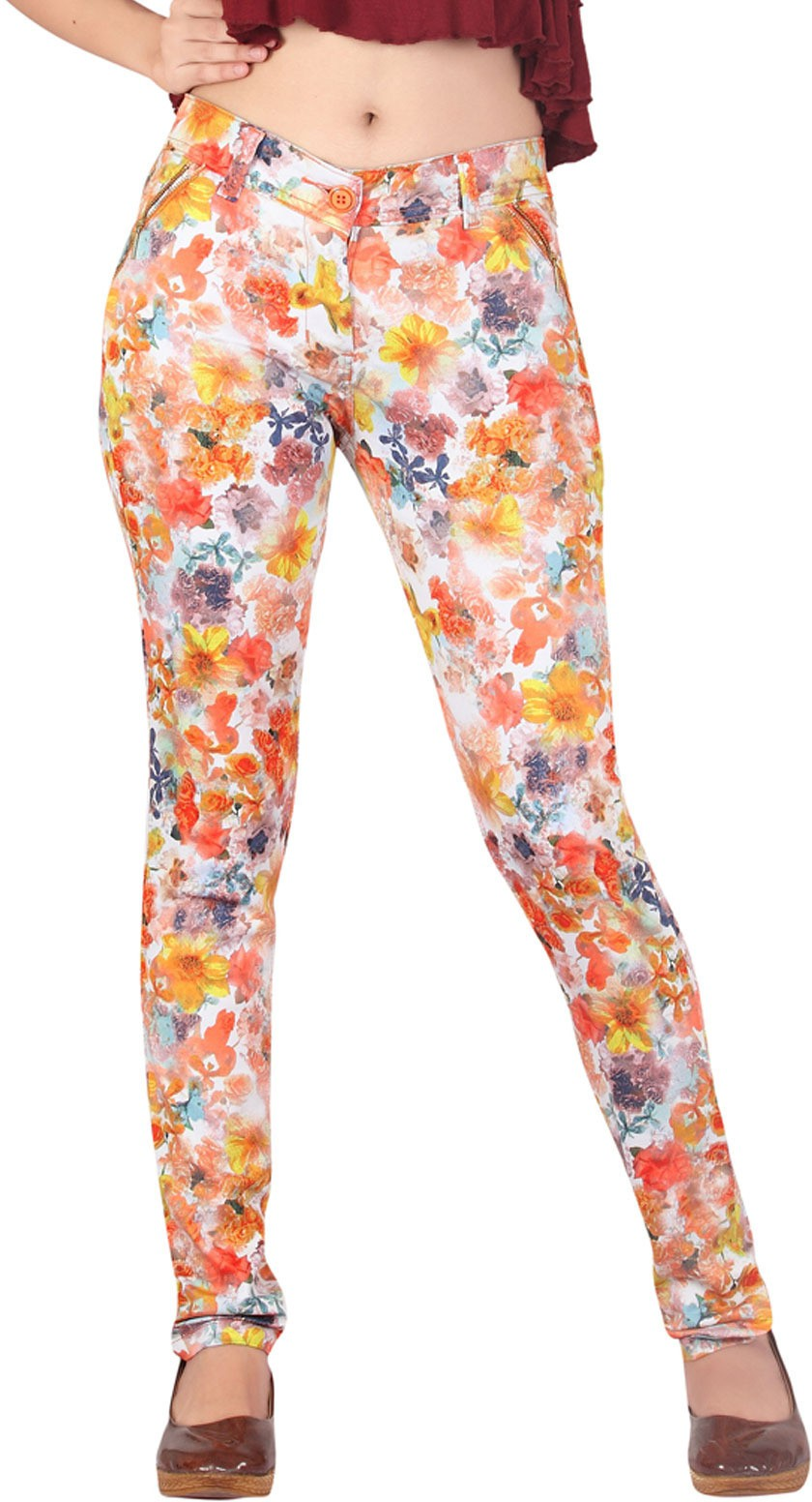 Inddus Womens Yellow Jeggings