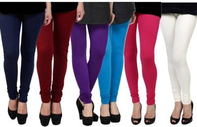 Fashion Zilla Women's Dark Blue, Maroon, Purple, Blue, Pink, White Leggings