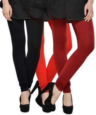 Beacon Enterprises Women's Black, Red, Maroon Leggings