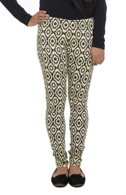 Fashion Cult Women's Yellow, Black Jeggings