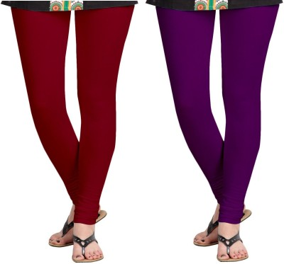 ZACHARIAS Women's Maroon, Purple Leggings