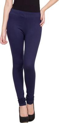 Golden Weave Women's Dark Blue Leggings