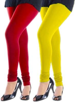 Trusha Dresses Women's Red, Yellow Leggings