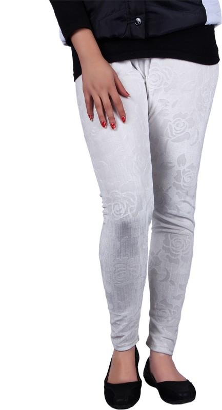 Kally Women's White, Silver Leggings