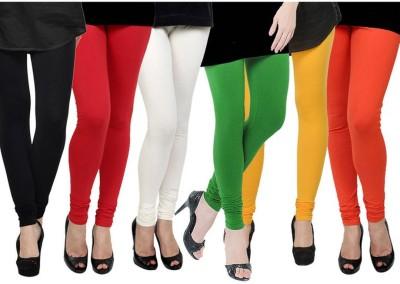 Fashion Zilla Women's Black, Red, White, Light Green, Yellow, Orange Leggings