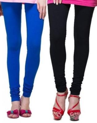 Zadine Women's Dark Blue, Black Leggings