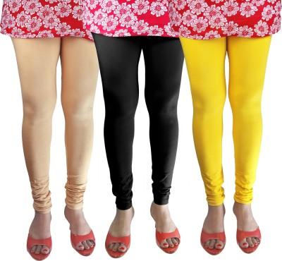 GreeN Zone Women's Beige, Black, Yellow Leggings