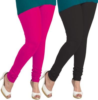 I-Diva Women's Pink, Black Leggings