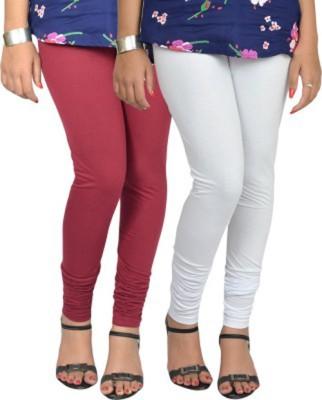 shivam Garments Women's White Leggings