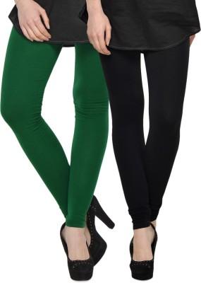Kjaggs Women's Dark Green, Black Leggings