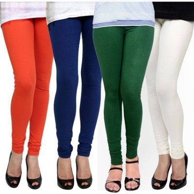 Fashion Zilla Women's Orange, Blue, Green, White Leggings