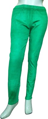 Miraaya Women,s Green Jeggings