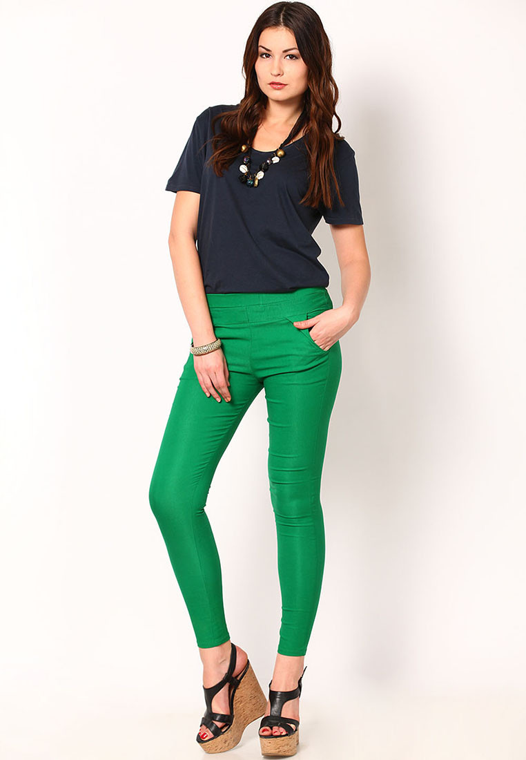Sportelle USA India Womens Green Jeggings